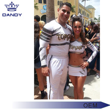 OEM service custom sublimation printing cheer uniform sexy hot cheerleading uniforms 2018