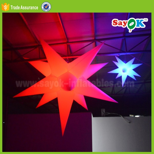 Colorful decoration inflatable star party event led inflatable star led wedding stage decoration