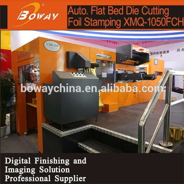 Automatic FlatBed Die cutter and hot foil stamping hologram printing machine