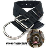Heavy Duty 2 Inch Wide Nylon Dog Collar For Large Dogs,Durable Pitbull Dog Collar Made Of 4 Layers Nylon Webbing