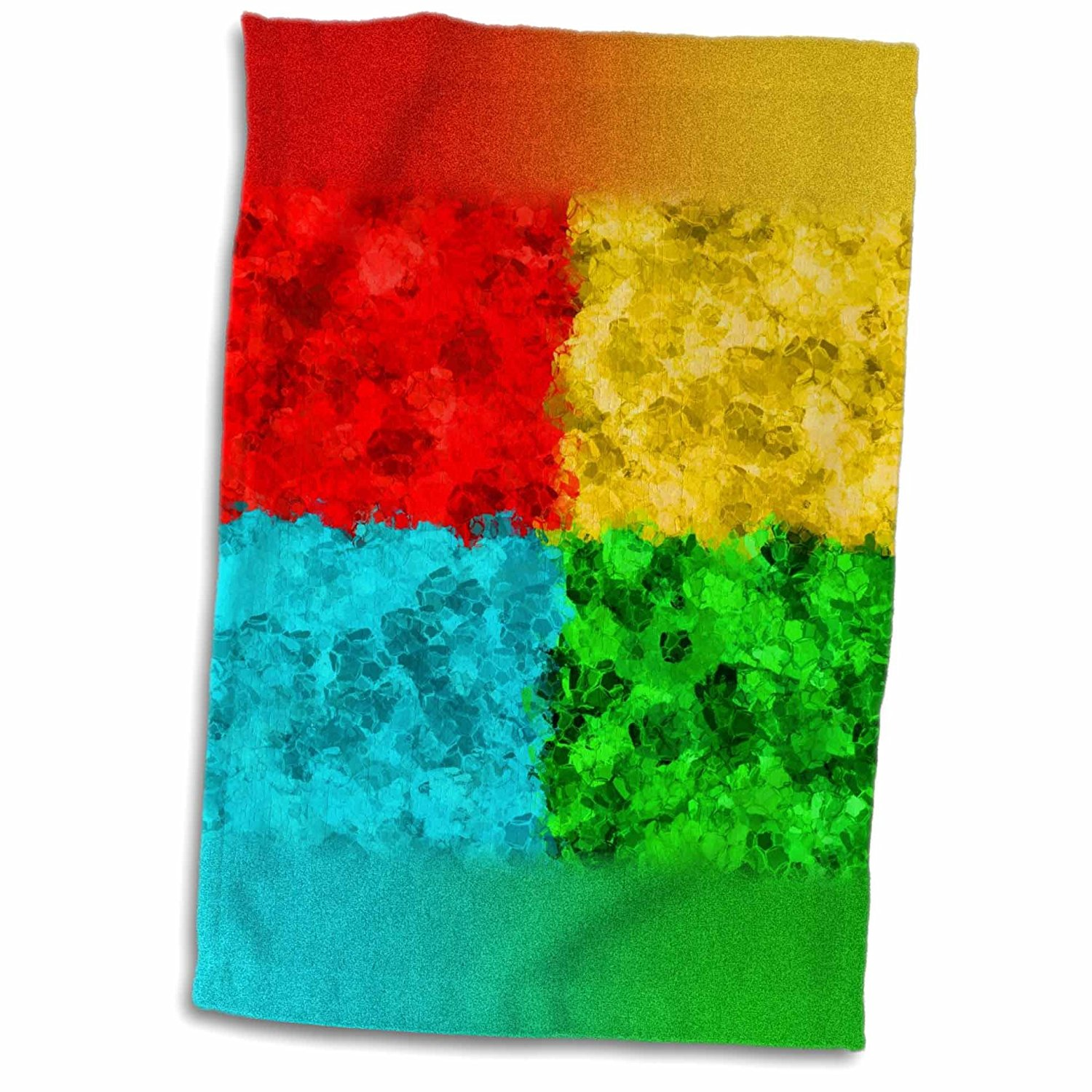 3dRose Russ Billington Designs - Abstract Design in Primary Colors - 12x18 Towel (twl_239116_1)