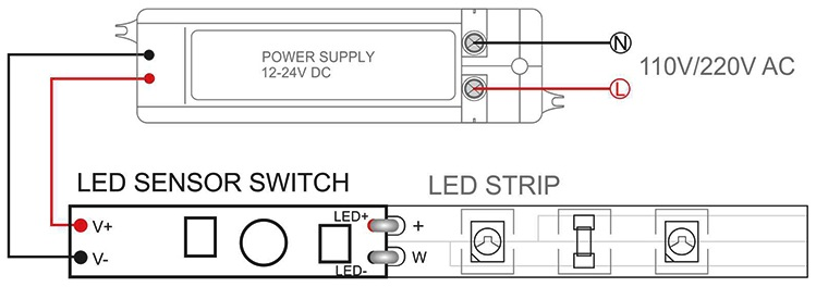 12v touch switch dimmer controller led lights dimmer switch