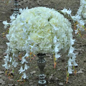 Lfb098 cream white 50cm wedding silk flower arrangement for table lfb098 cream white 50cm wedding silk flower arrangement for table centerpiece mightylinksfo