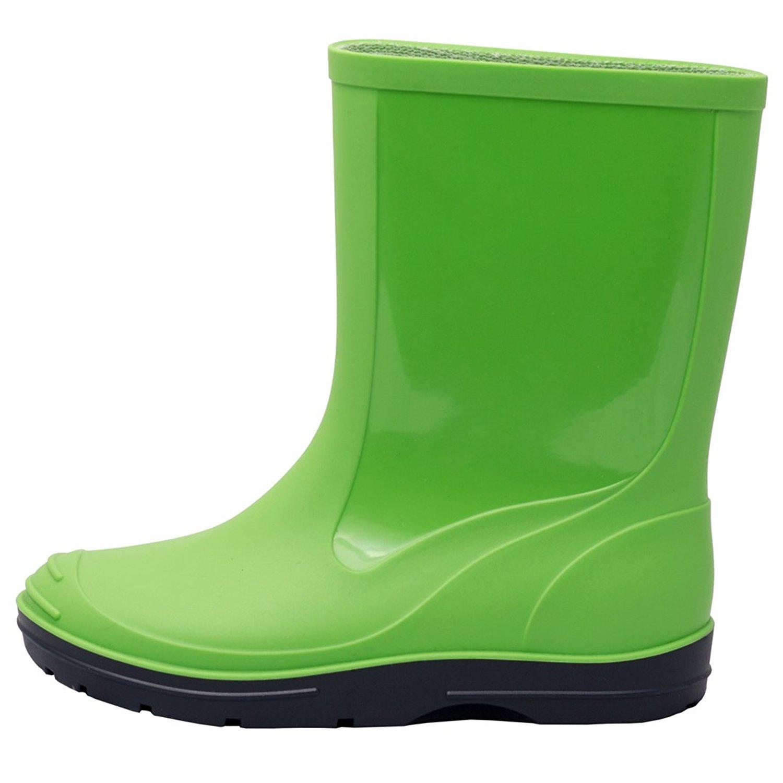 220c86cdabf1 Get Quotations · Solid PVC Children Kids Green Navy Wellington Rain Boots  Sizes 9M-12.5M