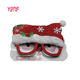 Hotselling christmas party mask snowman hat plastic glasses