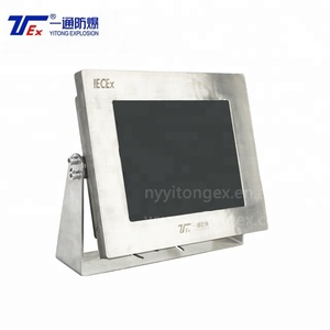 Cast Aluminum Touch Screen Size 15'' 17'' 19'' IP54 ATEX & IECEx Monitor Full Sealed Explosion Proof Monitor