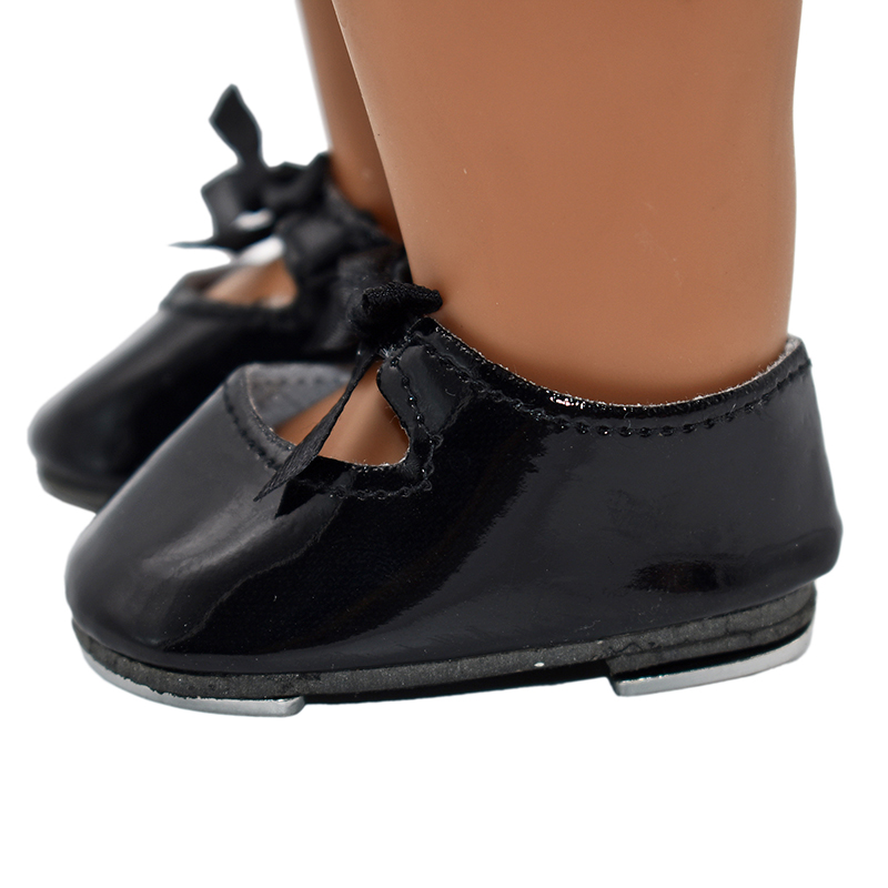 Black Tap Dance Shoes fits 18 inch American Girl Dolls