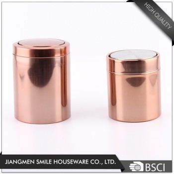 Hot Sale Stainless Steel Mini Desktop Trash Can Table Dustbin