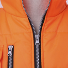 Orange work durable camo safety vest