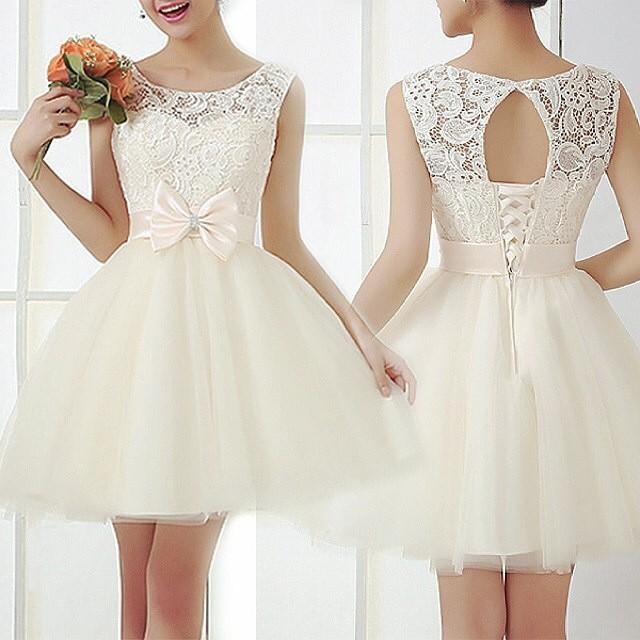 New 2015 Short Sweet 16 Dress Lace Cute Homecoming Dresses ...