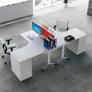 T shape aluminum panel modern office furniture work station with cabinet office workstation