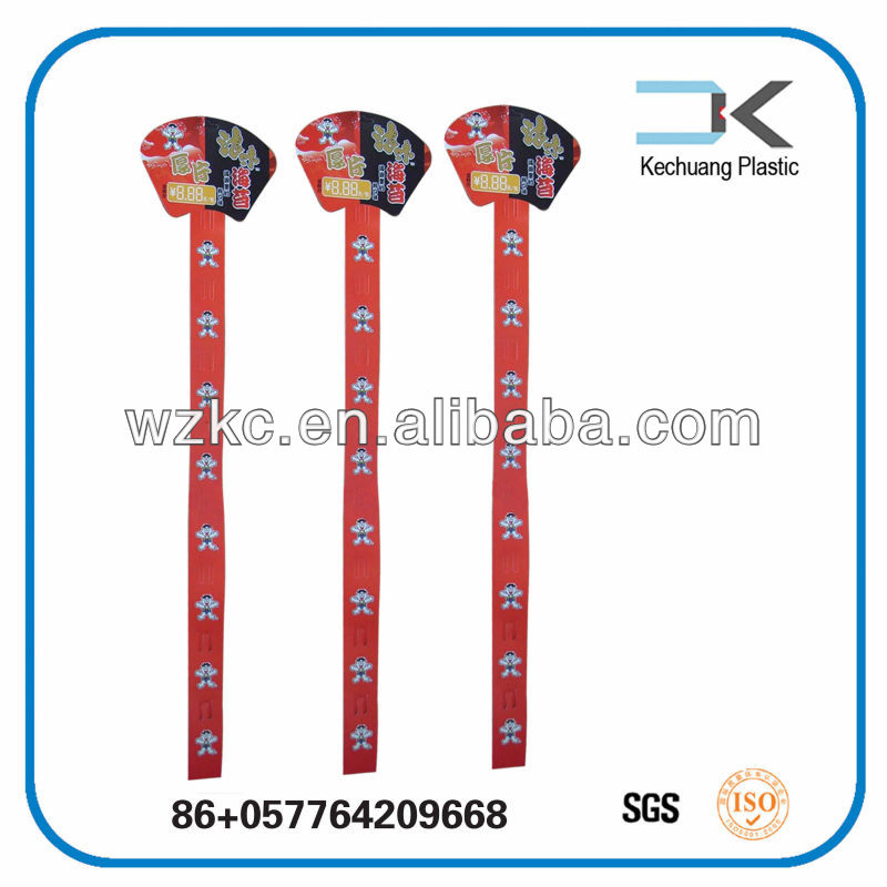 Colorful !! Eco-friendly Data Price Plastic hanging display clip strip