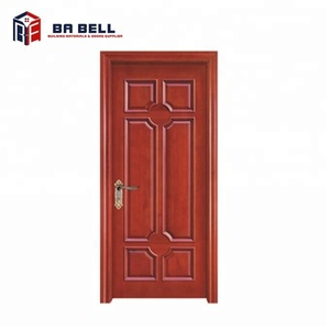 residential or interior simple teak solid wood door designs for house