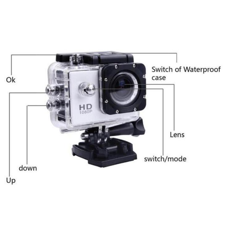 Açık Mini eylem kamera su geçirmez Full HD 1080P spor DV video kamera
