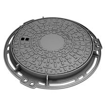 heavy duty ductile iron round vented manhole cover