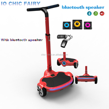 new arrival 6.5 inch tire electric scooter Remote key + bluetooth music + LED