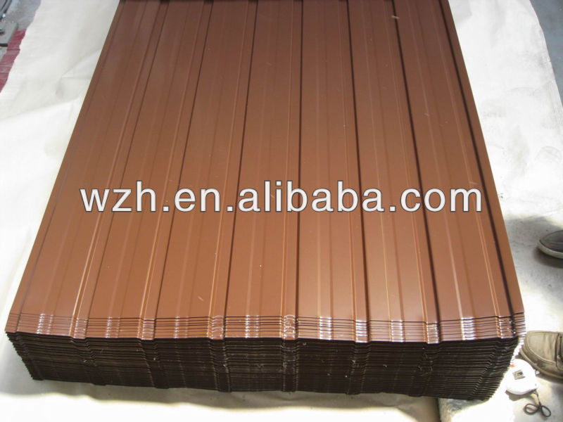 width is 600-1050mm light steel board/plate/tile to cover the roof and wall from Weizhengheng Light Steel Color Plate Co.,Ltd