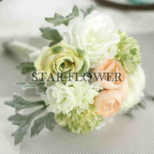2017 New Arrival SF2017126 Decorative Flowers & Wreaths low price hot selling colorful wedding rose hand bouquet