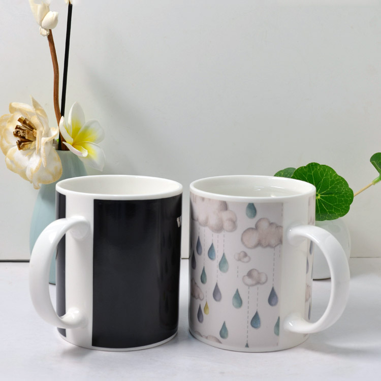 300ml 11oz hot water Color Changing Magic Ceramic Coffee Mug Color changing cups promotion gift OEM