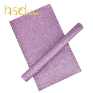 HSDRibbon Wholesale pink Glitter sequin Leather Fabric For bow