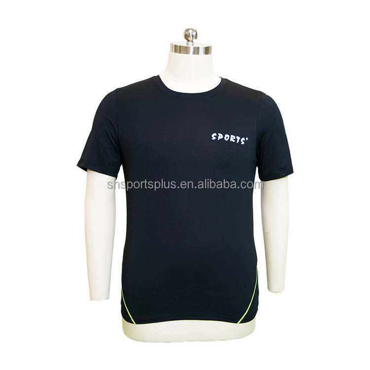 OEM/ODM Mens dry fit yoga fitness refelctive short sleeve gym t shirt