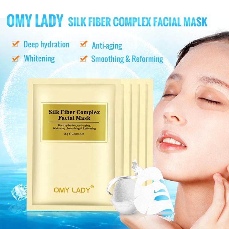 OMY महिला गर्म बेच ब्राइटनिंग मुसब्बर वेरा चेहरे नकाब