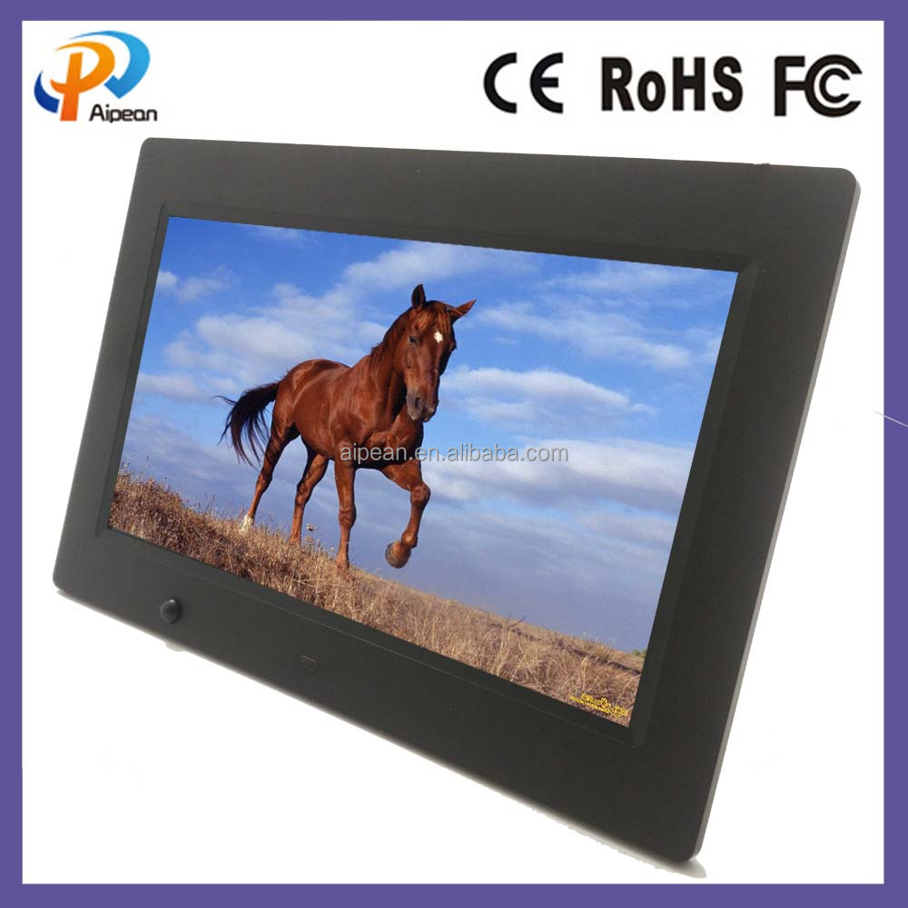 "wireless universal remote control video display picture frame 10"" lcd humen induction digital"
