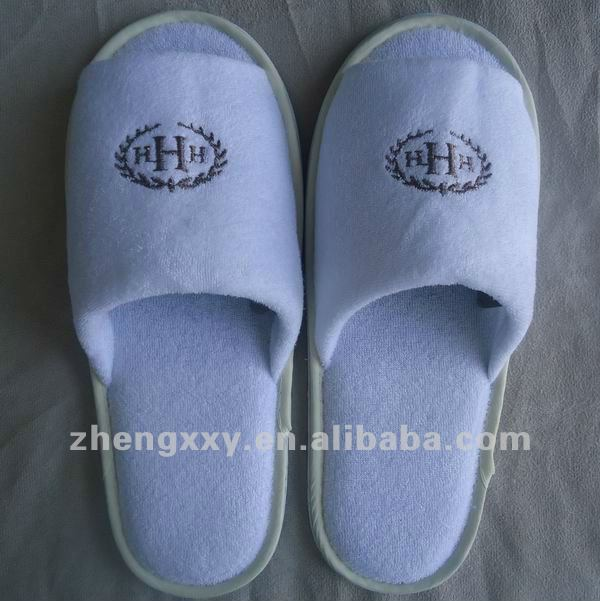 cheap and hot sell pen toe hotel terry disposable slippers $0.3