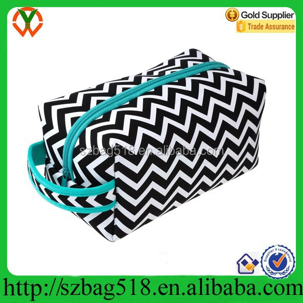 Protective Neoprene 9 inch Zipper Closure Travel Cosmetic Bag