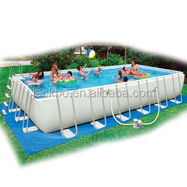 Pvc Outdoor Water Park Ultra Rectangular Intex Steel Frame Pool Buy Rectangular Intex Steel Frame Pool Rectangular Metal Frame Pool Metal Frame Pool
