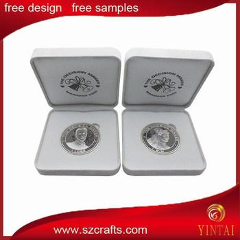 Hot Personalized Wedding Coins With Husband And Wife Logo Silver Plated White Velvet