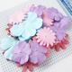 DIY scrapbook mixed colorful artificial handicrafts mulberry paper flowers petals
