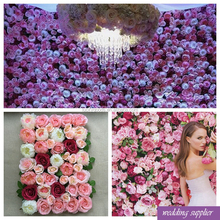 whoesale artificial white elegant wedding decorative wall flower with hydrangea