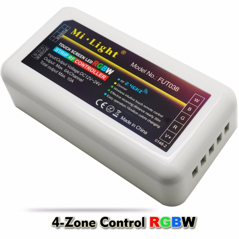 Milight 2.4g 4 Zone Touch Screen Wireless Rf Remote Dc12-24v 10a Controller Dimmer For Rgbw Rgbww Led Strip Light Rgb Controlers Lighting Accessories