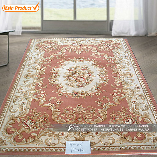 nature design hand carved wilton rugs in Pink