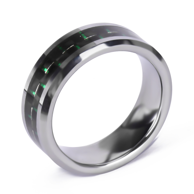 Man Jewelry Black Spinner Wood Blank Pure Tungsten Wedding Ring