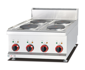 Stainless Steel Commericial Cooking Equipment Table Top Electric 4 Plate  Cooker Stove