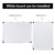 Double Sided Silver Aluminium Frame Magnetic Dry Erase White Board For Office and School