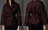 Women Bolied Wool Kimono Coat
