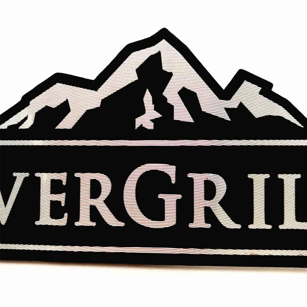 High Grade Custom Engraved Texture Printed Logo Brushed Embossed Metal Plate