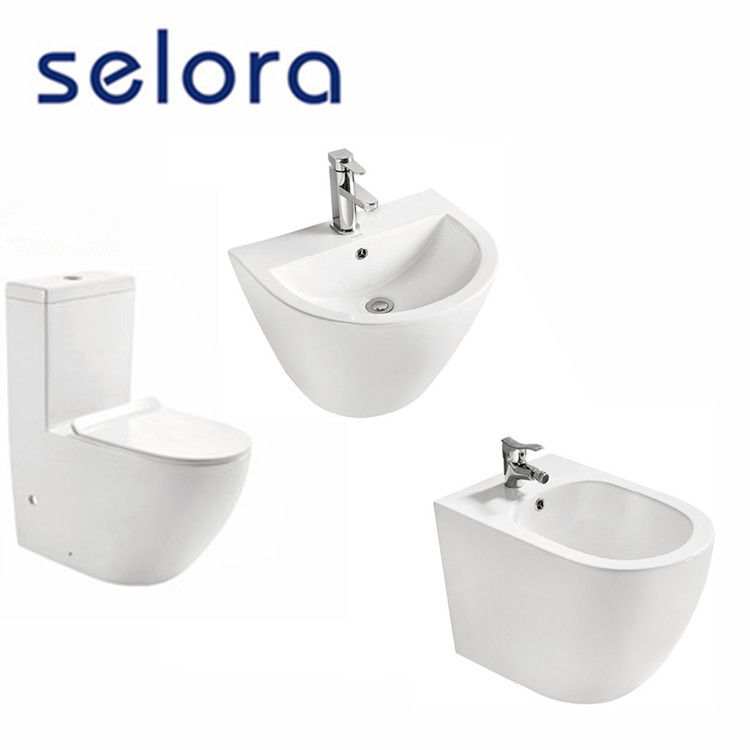 new arrival luxury suite series washdown floor mounted ceramic bathroom water closet set