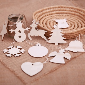 Santa snowmen angel wooden hang christmas tree decoration