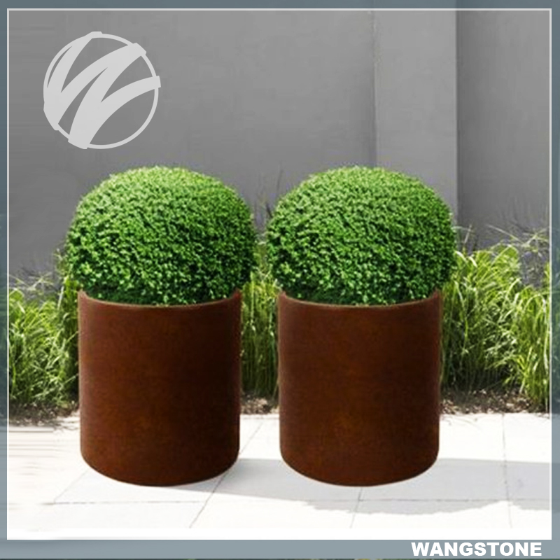 Top Quality Corten Steel Metal Planters and Flower Pots Wholesale