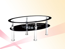 glass top modern console table