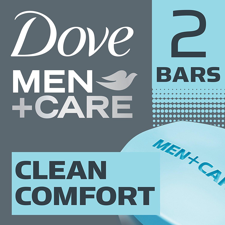 Dove Men+Care Body and Face Bar, Clean Comfort 4 oz, 2 Bar