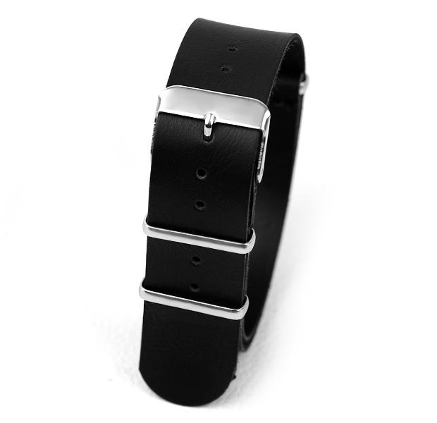 Горячая распродажа 18 мм PU группа часы кожи ремни для часов, свободного покроя нато наручные ремешок для часов ( черный шатен ) для выбирают