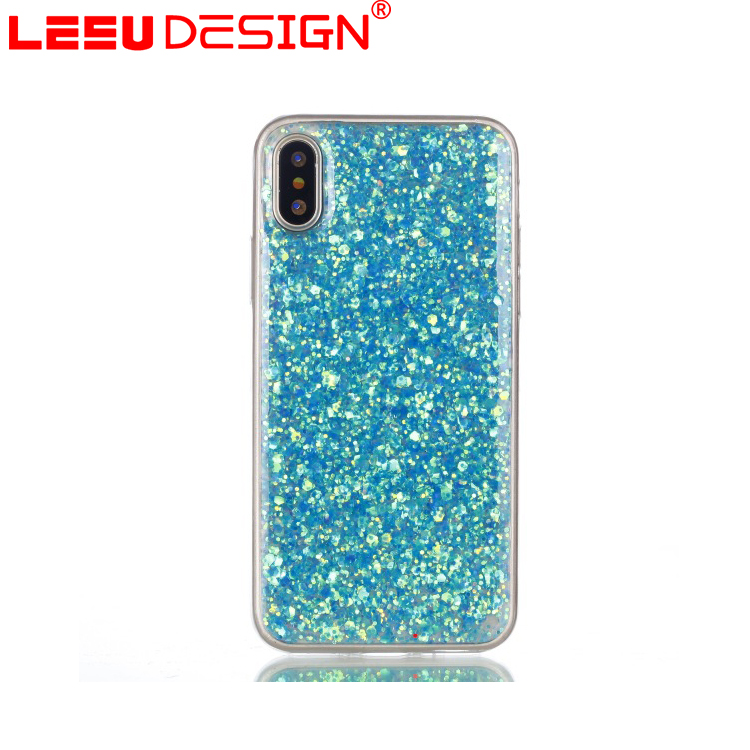 Custom Girls liquid tpu phone case for iphone x bling bling case for iphone