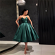 New Fashion Short Prom Dress Green Sweetheart Woman Dresses Ball Gown Party Gowns