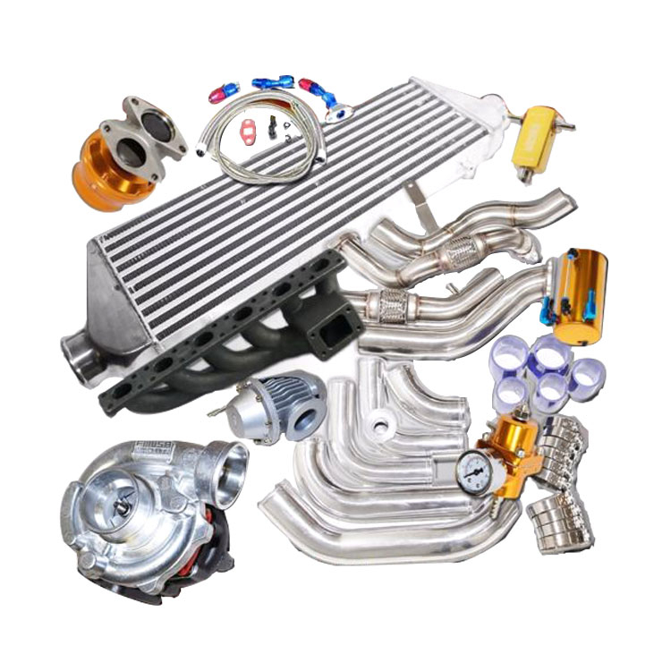 Complet Turbo Kits T3/t4 Turbo Downpipe And Piping Bolt On