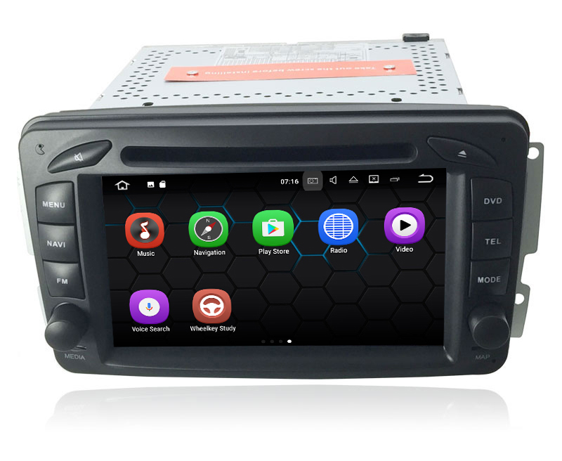 7'' Touch Screen Android 7.1 OS Car Radio Stereo Video Player For Benz Old C Class W203 W209 C200 C230 With DVD GPS Navigation